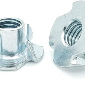 4-Prong Tee Nuts-Zinc plated